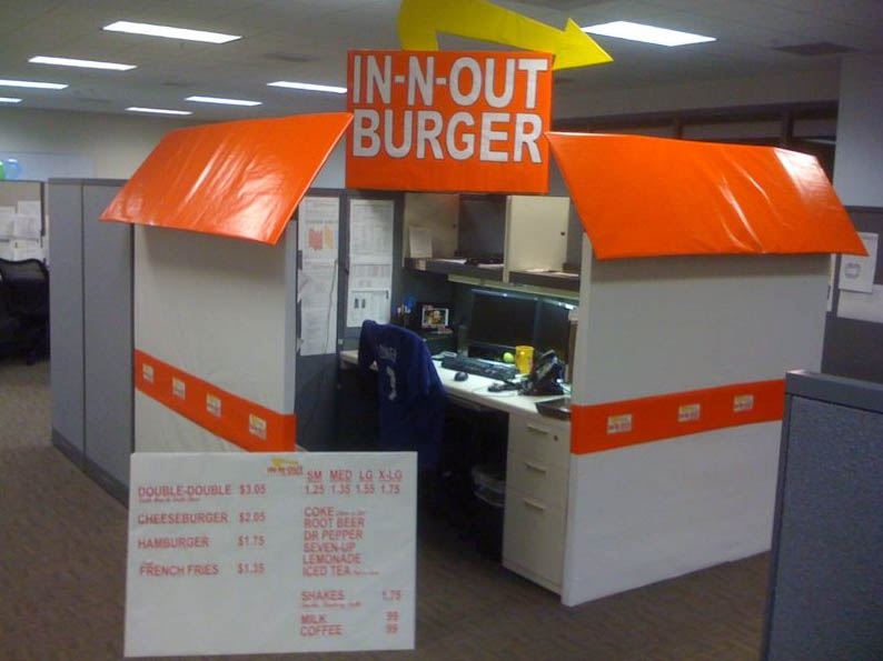in n out burger - Halloween Office Decoration