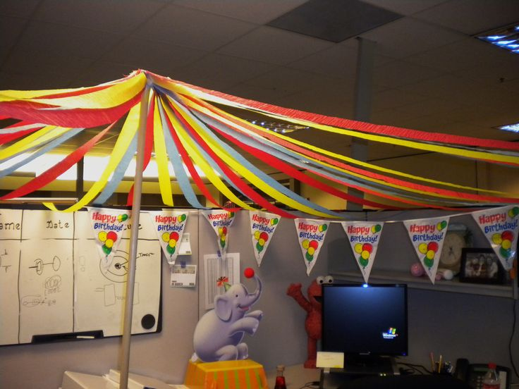 under the big top - Office Halloween Decor