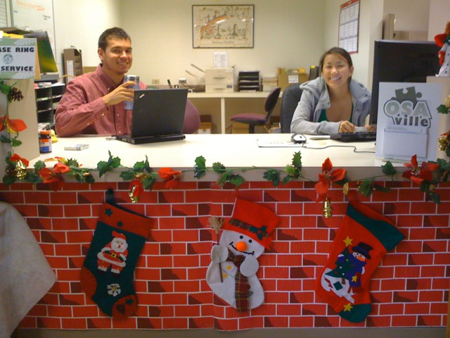 Decorating Office For Christmas Part - 23: Hearth-helpdesk