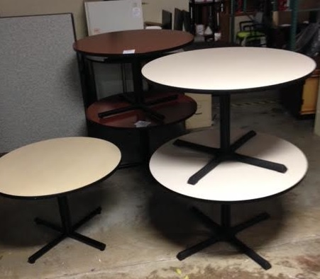 Round Breakroom Table (uf99x)  Thrifty Office Furniture. Custom Computer Desks. Wide Console Table. Gsm Desk Phone. Bar Height Dining Tables. Secretary Desk And Hutch. Bamboo Desk. Desk Chair Mat For Wood Floor. Bamboo Drawer Pulls