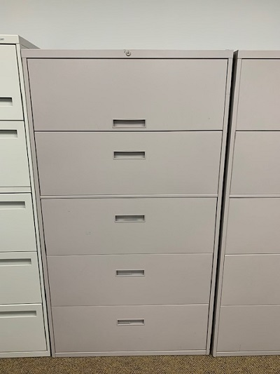 "36"" Gray 5 Drawer Lateral"