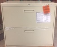 HON 2 Drawer Lateral File in Putty