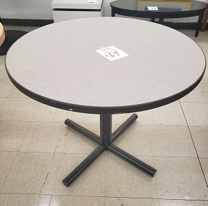 "36"" Round Gray Table"