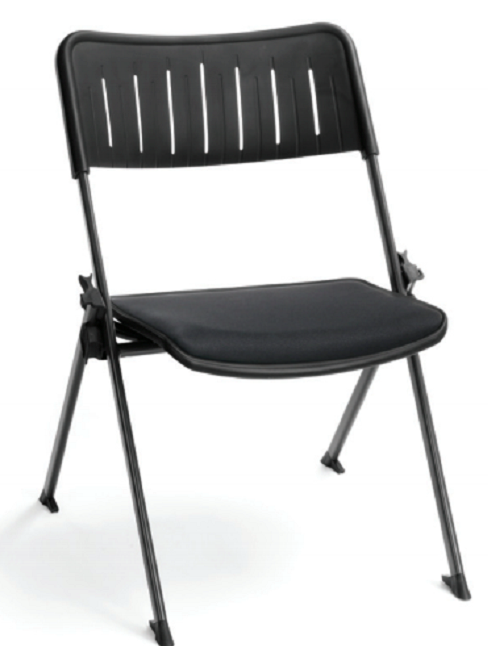 Black Stanza Nesting Fabric Stack Chair