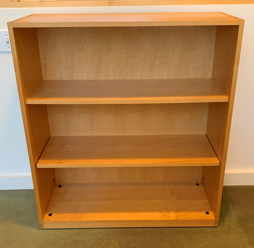 Kimball 3 Shelf Maple Bookcase