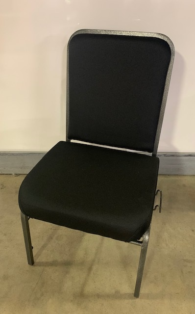 OFM Black Comfort Class Stack Chair