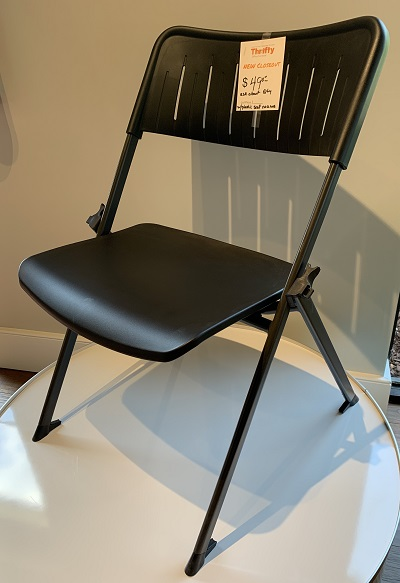 Black Stanza Nesting Plastic Stack Chair