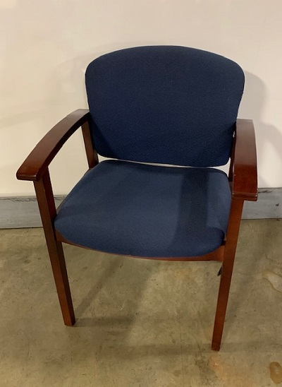 HON Blue Fabric Side Chair