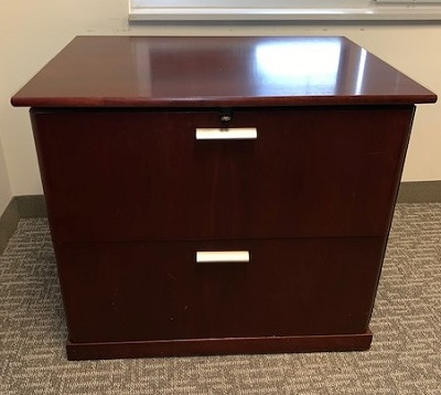 2 Drawer Mahogany Lateral File