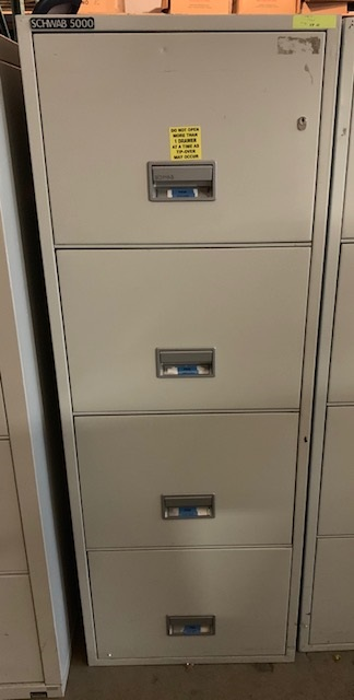 Schwab 5000 4 Drawer Fire Proof Vertical File In Putty