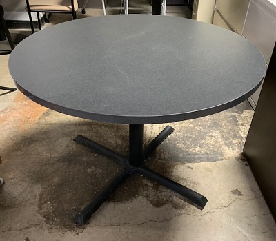 "42"" Round Gray Top Table"