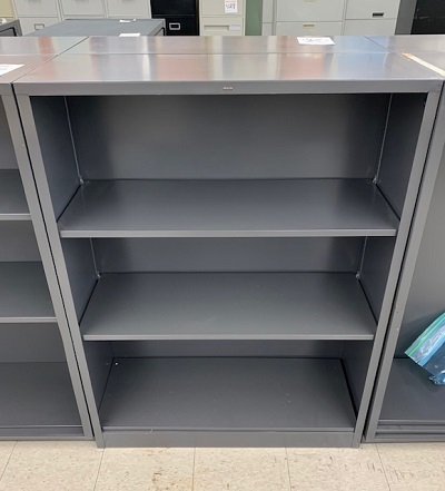 HON Metal 3 Shelf Bookcase