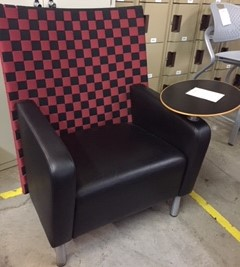 Plaid Tablet Chair