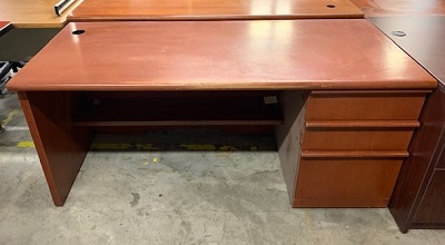 Single Pedestal Cherry Desk