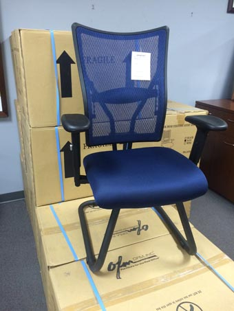 Mesh Back Guest Chair-Navy