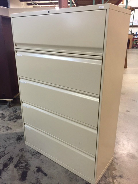 "5 Drawer 42"" Lateral File"