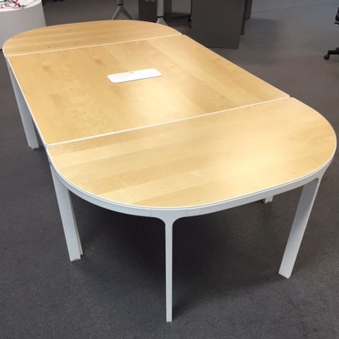 Maple and White Conference Table