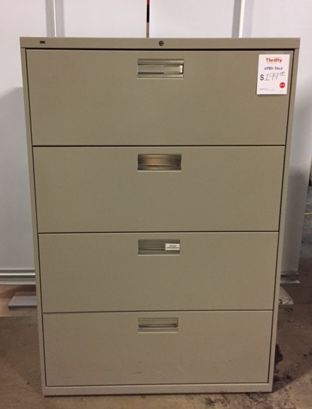 "36""W Four Door Lateral File Cabinets"