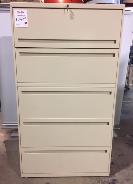 "36""W Five Drawer Lateral File Cabinet"