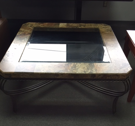 Granite & Glass Coffee Table