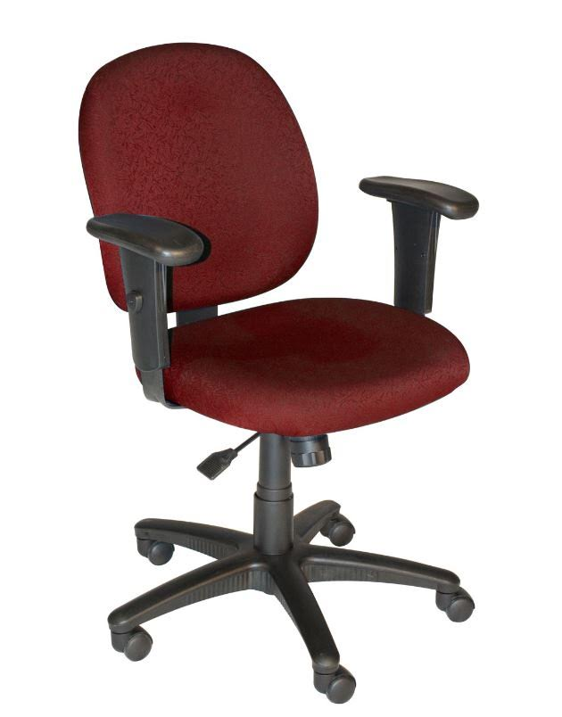 HPFi Lynx Ergonomic Task Chair in Burgundy