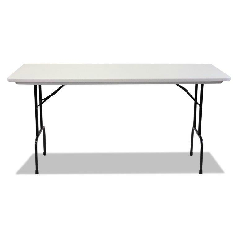 "30 x 72 Molded Resin Top Folding Table - 36"" counter height"