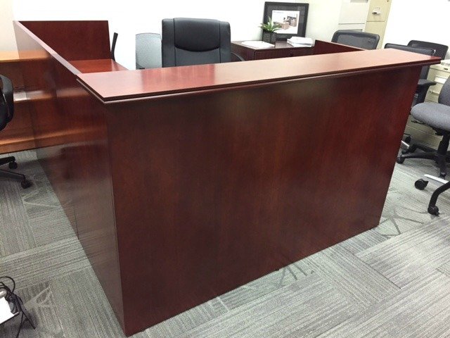 Indiana Wood Veneer Reception Desk