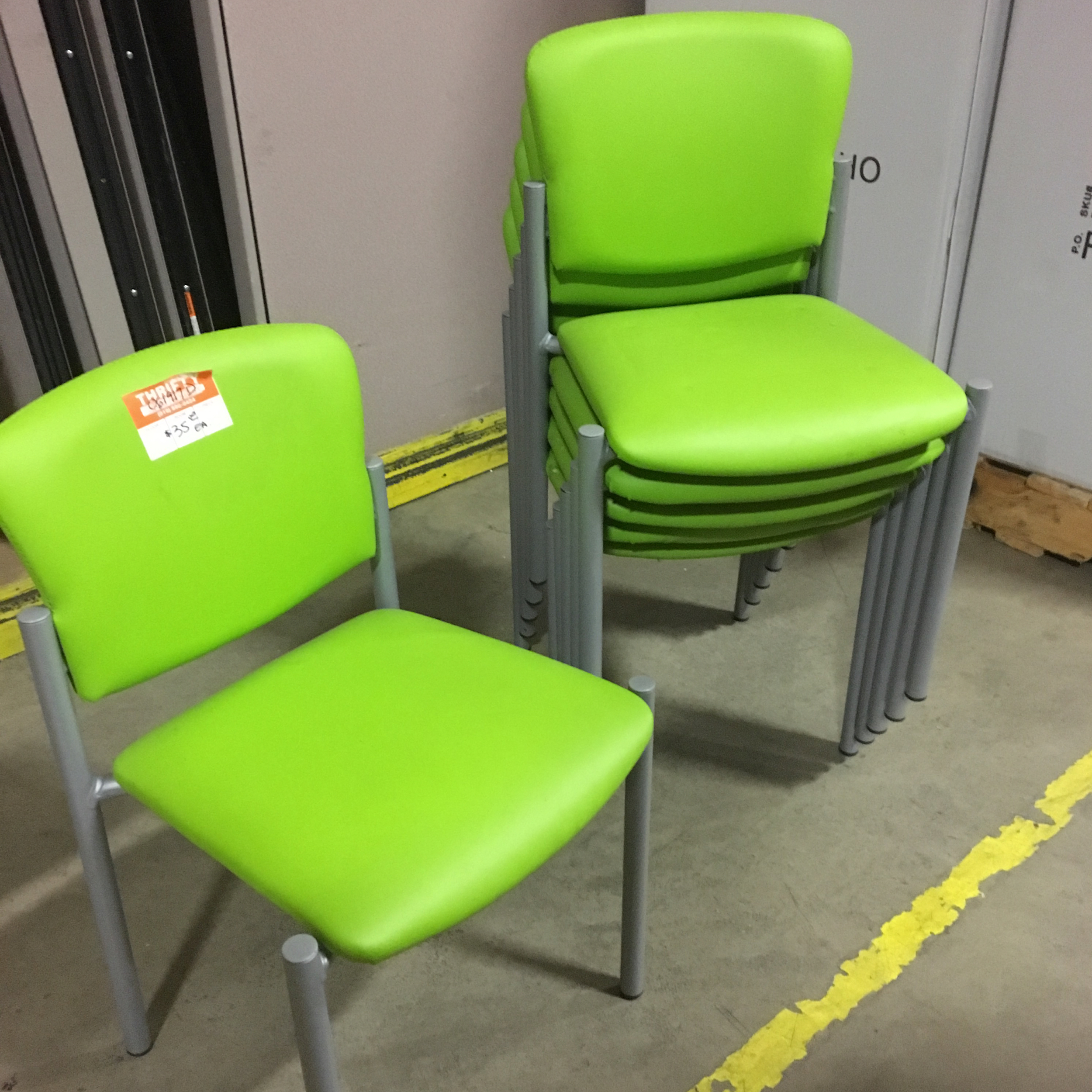 Lime Green Stackable Chair